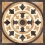 116,8 x 116,8 cm Rosetón DAMORE Dark Pulido
