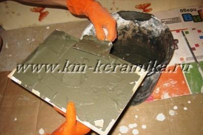 Укладка плитки на кухонный фартук